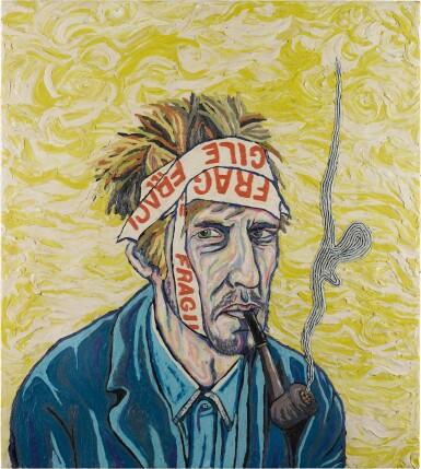 View 1. Thumbnail of Lot 8. Portrait of the Artist Contemplating, Van Gogh - No. 6.