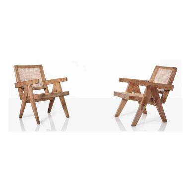 View 1. Thumbnail of Lot 85. Pair of Easy Chairs, Model No. PJ-SI-29-A.