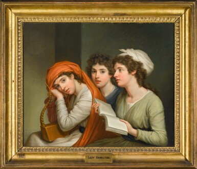 View 2. Thumbnail of Portrait of Emma, Lady Hamilton as the three muses.