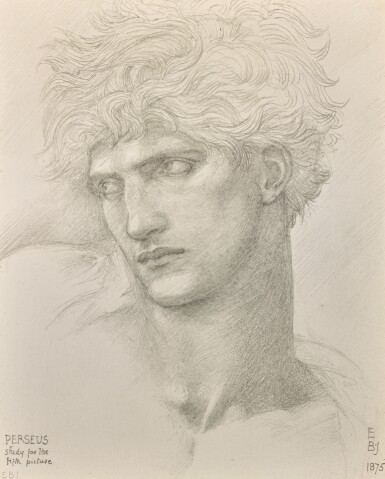 SIR EDWARD COLEY BURNE-JONES, BT., A.R.A., R.W.S.| STUDY FOR THE HEAD OF PERSEUS IN THE DEATH OF MEDUSA