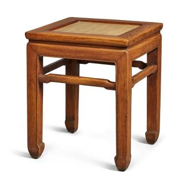 View 3. Thumbnail of Lot 146. A 'huanghuali' stool, Qing dynasty .