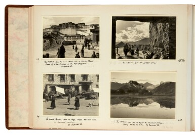 View 8. Thumbnail of Lot 182. Tibet—Shepheard and Jack | Two albums of photographs of Tibet, 1938, with diary transcript and related material.