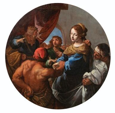 View 4. Thumbnail of Lot 34. The Judgement of Solomon; Daniel defending Susanna.