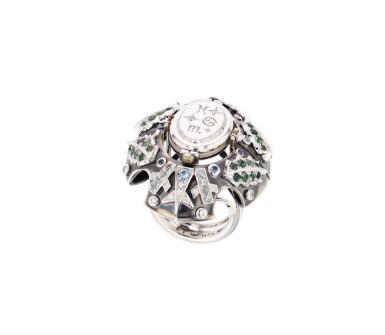 View 2. Thumbnail of Lot 11. Elie Top, Gem-Set, Diamond and Chrysoprase Ring [Bague Pierres de Couleur, Diamants et Chrysoprase], 'Eau d'Hiver'.