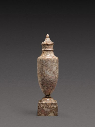 View 1. Thumbnail of Lot 167. An Italian breccia dorata marble vase, circa 1800.
