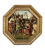 SCHOOL OF EMILIA ROMAGNA, CIRCA 1500 | JULIUS CAESAR RECEIVING THE HEAD OF POMPEY