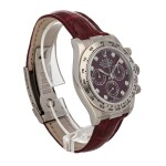 ROLEX | DAYTONA REF 116519, A WHITE GOLD AUTOMATIC CHRONOGRAPH WRISTWATCH WITH GROSSULAR AND DIAMOND-SET DIAL CIRCA 2002