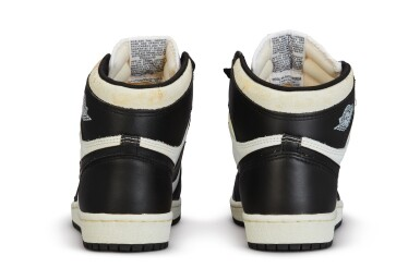 View 9. Thumbnail of Lot 11. Nike Air Jordan 1 High OG (1985) 'Black & White'  Size 8.5.