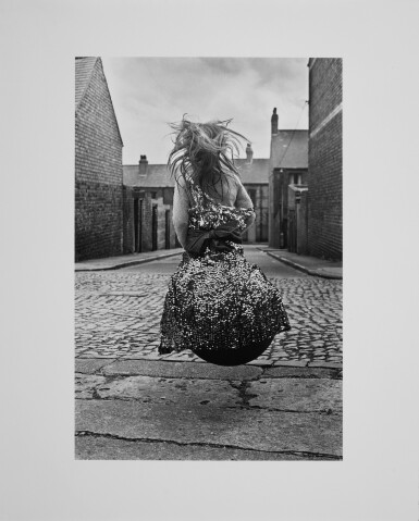 View 2. Thumbnail of Lot 11. Girl on a Spacehopper, Byker.
