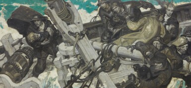 View 1. Thumbnail of Lot 26. DEAN CORNWELL   UNTITLED (CHAOS AT SEA).
