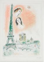 MARC CHAGALL   LE RÊVE DE PARIS (M. 600)
