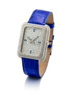 PIAGET | REFERENCE 14105, A WHITE GOLD, DIAMOND AND SAPPHIRE-SET WRISTWATCH WITH BETA 21 MOVEMENT, CIRCA 1970