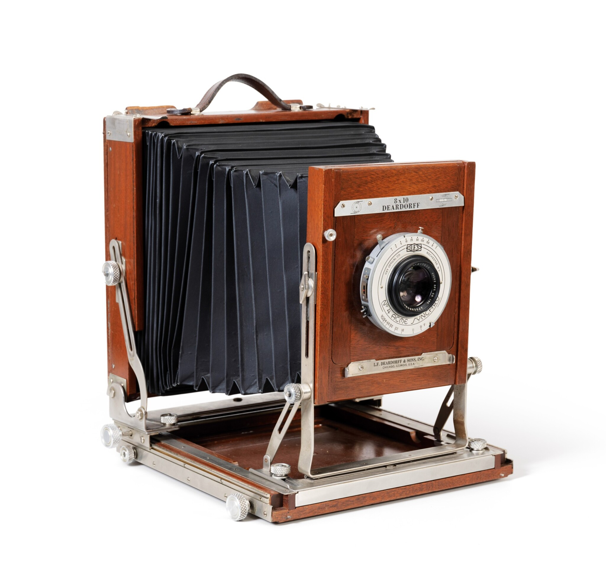 View full screen - View 1 of Lot 9. Large format Studio Camera of Paolo Roversi, L.F. Deardroff & Sons Wood Field.