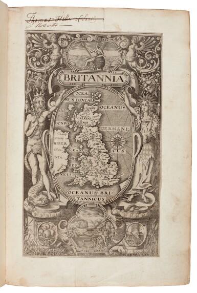 View 1. Thumbnail of Lot 42. William Camden | Britannia, London, 1607, old reversed calf.
