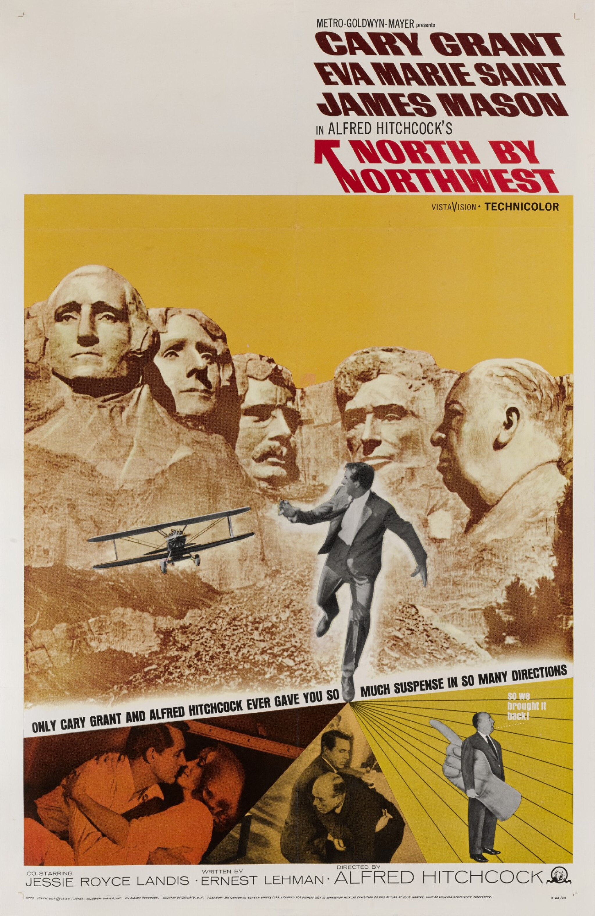 View full screen - View 1 of Lot 71. NORTH BY NORTHWEST (1959) POSTER, US.
