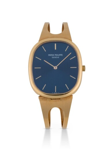 PATEK PHILIPPE | ELLIPSE, REF 3838 YELLOW GOLD WRISTWATCH WITH BRACELET MADE IN 1982