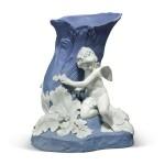 A WEDGWOOD BLUE AND WHITE JASPERWARE VASE CIRCA 1785