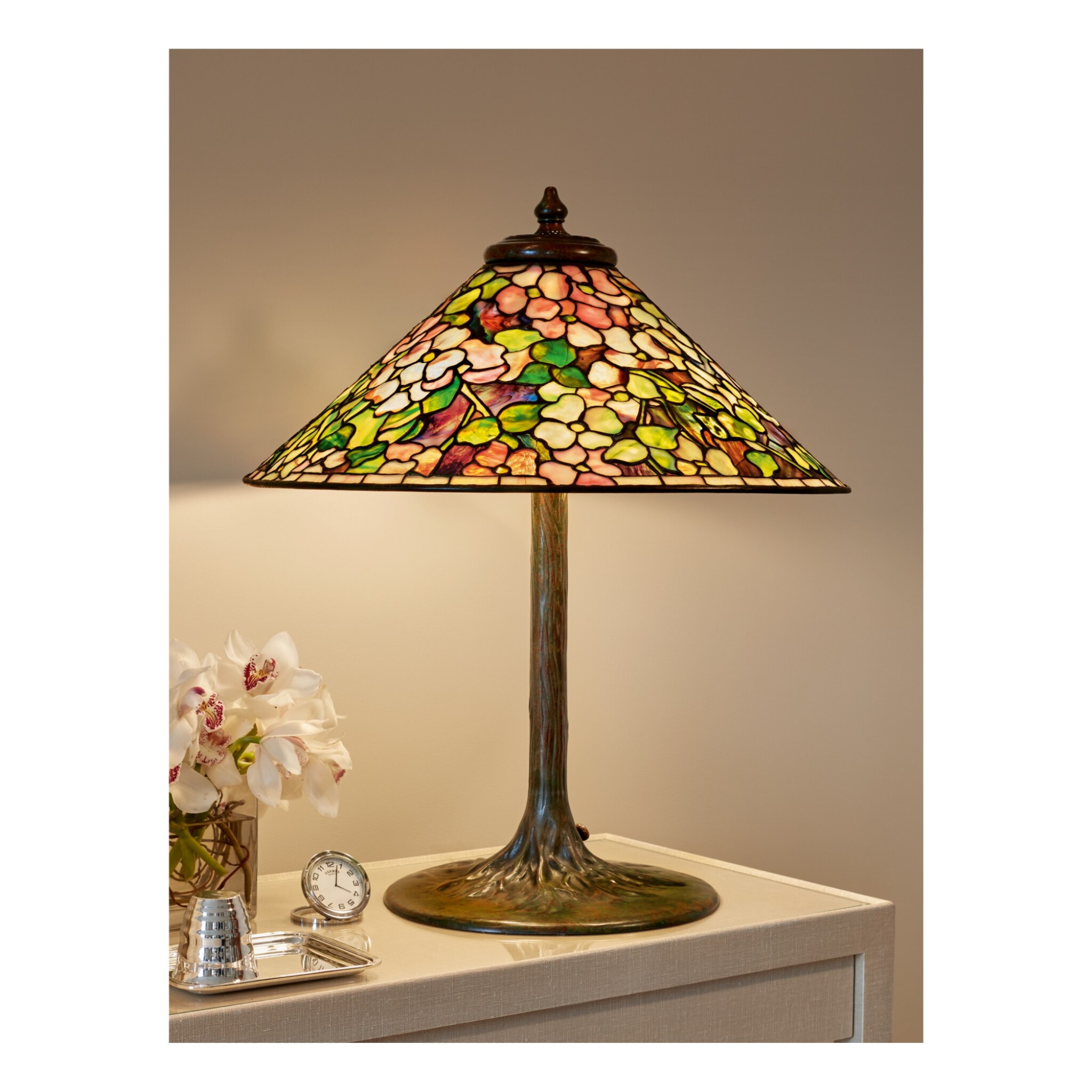 """View full screen - View 1 of Lot 82. """"Dogwood"""" Table Lamp."""