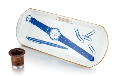 PATEK PHILIPPE | A SET OF PORCELAIN DISH AND LOUPE, CIRCA 2000