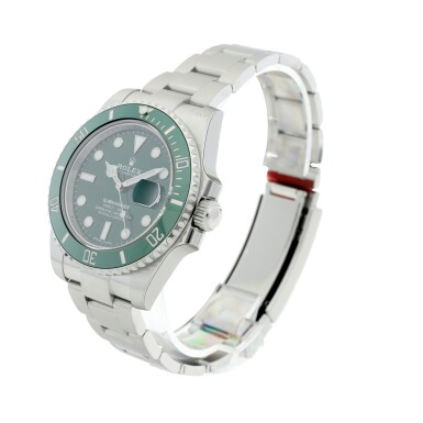 View 2. Thumbnail of Lot 7. REFERENCE 116610LV SUBMARINER 'HULK' A STAINLESS STEEL AUTOMATIC WRISTWATCH WITH DATE AND BRACELET, CIRCA 2020.