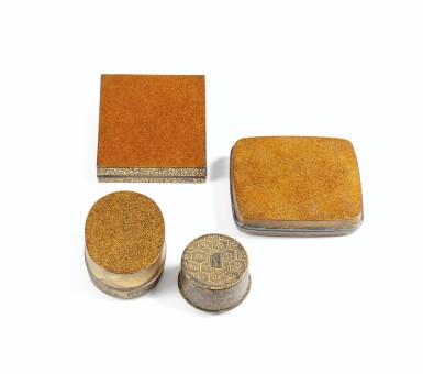 View 6. Thumbnail of Lot 74. A rare nashiji gold and silver inlaid suzuribak, Japan, Edo period.