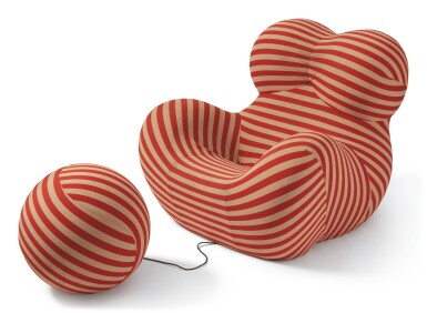 "GAETANO PESCE | ""UP-5 DONNA"" CHAIR AND ""UP-6"" OTTOMAN"