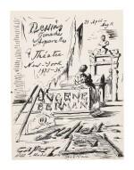 "EUGENE BERMAN | STUDY FOR ""JULIEN LEVY EXHIBITION TITLE PAGE"""