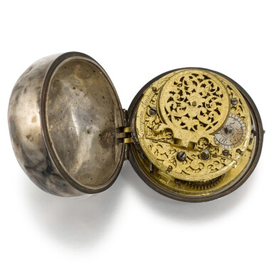 View 2. Thumbnail of Lot 270. CONTINENTAL   A SILVER VERGE WATCH WITH DATE, CIRCA 1710.