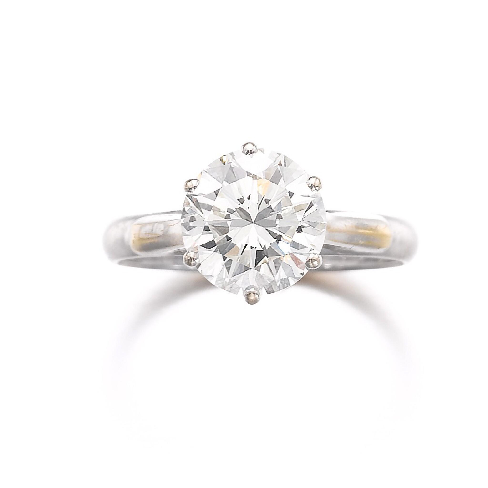 View full screen - View 1 of Lot 686. Diamond ring | 鑽石戒指.