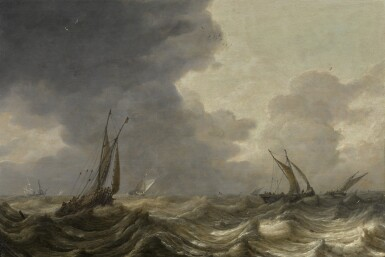 PIETER MULIER | Fishing boats in a storm