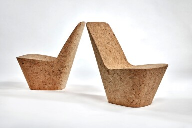 View 2. Thumbnail of Lot 115. Pair of Cork Chairs.