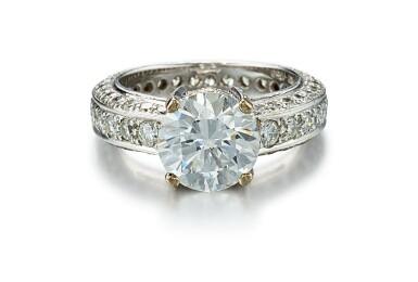 DIAMOND RING, ADLER | 2.68卡拉 圓形 E色 VVS2淨度 鑚石 配 鑚石 戒指, Adler