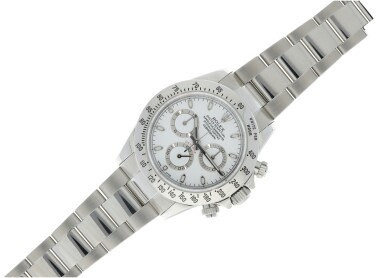 View 4. Thumbnail of Lot 4. ROLEX | REFERENCE 116520 DAYTONA A STAINLESS STEEL AUTOMATIC CHRONOGRAPH WRISTWATCH WITH BRACELET, CIRCA 2012.