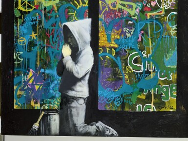 View 2. Thumbnail of Lot 1133. BANKSY 班克斯 | FORGIVE US OUR TRESPASSING 寬恕我們的罪過.