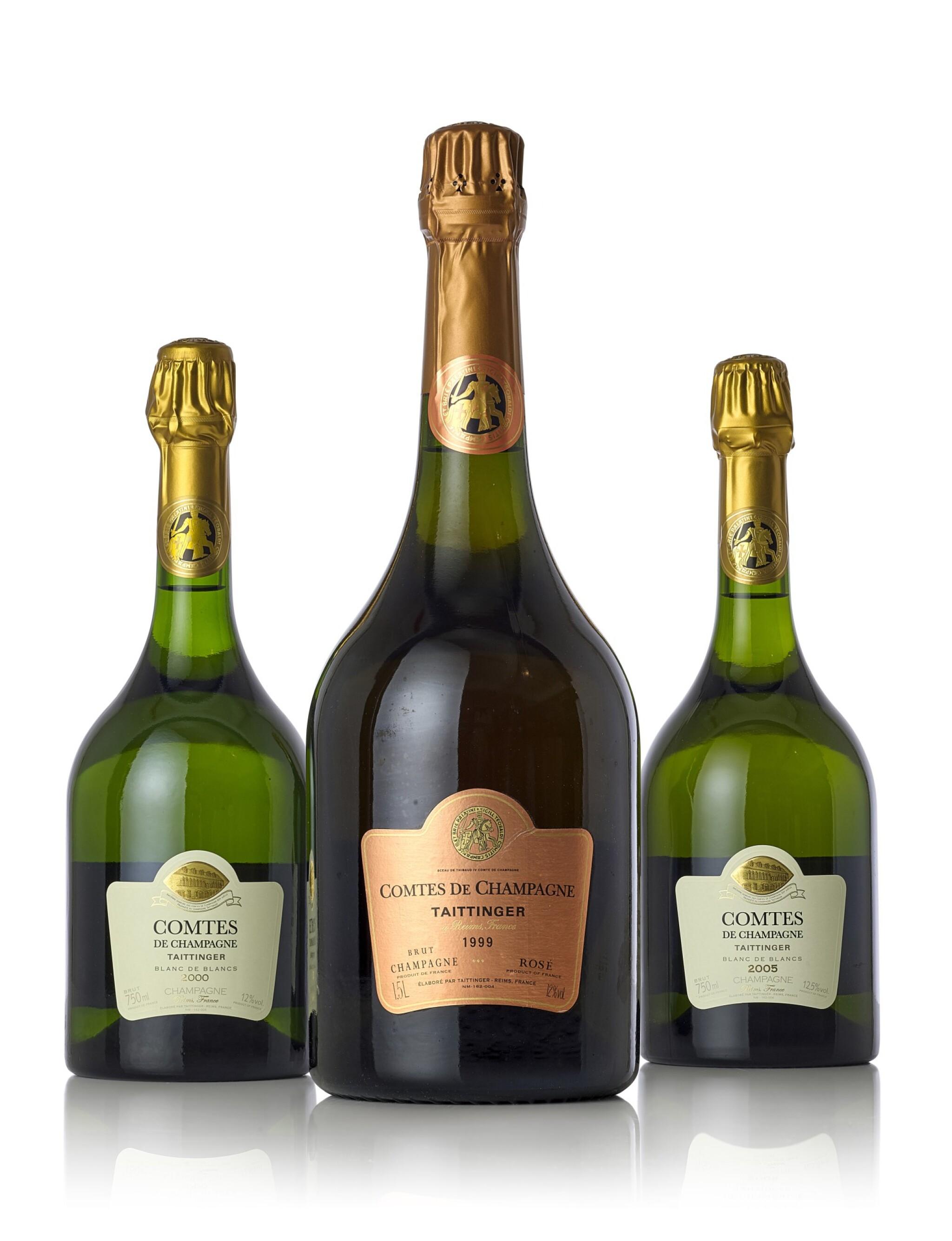 View full screen - View 1 of Lot 3651. Taittinger, Comtes de Champagne, Blanc de Blancs 2005 (12 BT).