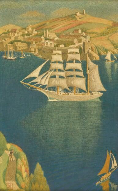 JOSEPH EDWARD SOUTHALL, R.W.S., R.B.S.A., N.E.A.C. | The White Barque at Fowey