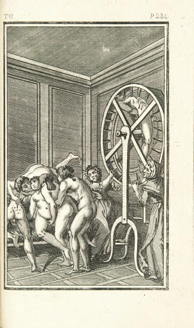 View 2. Thumbnail of Lot 167. SADE. La Nouvelle Justine. Rarissime en rel. érotique.Véritables éditions originales publiées à Paris en 1799 et en 1801.