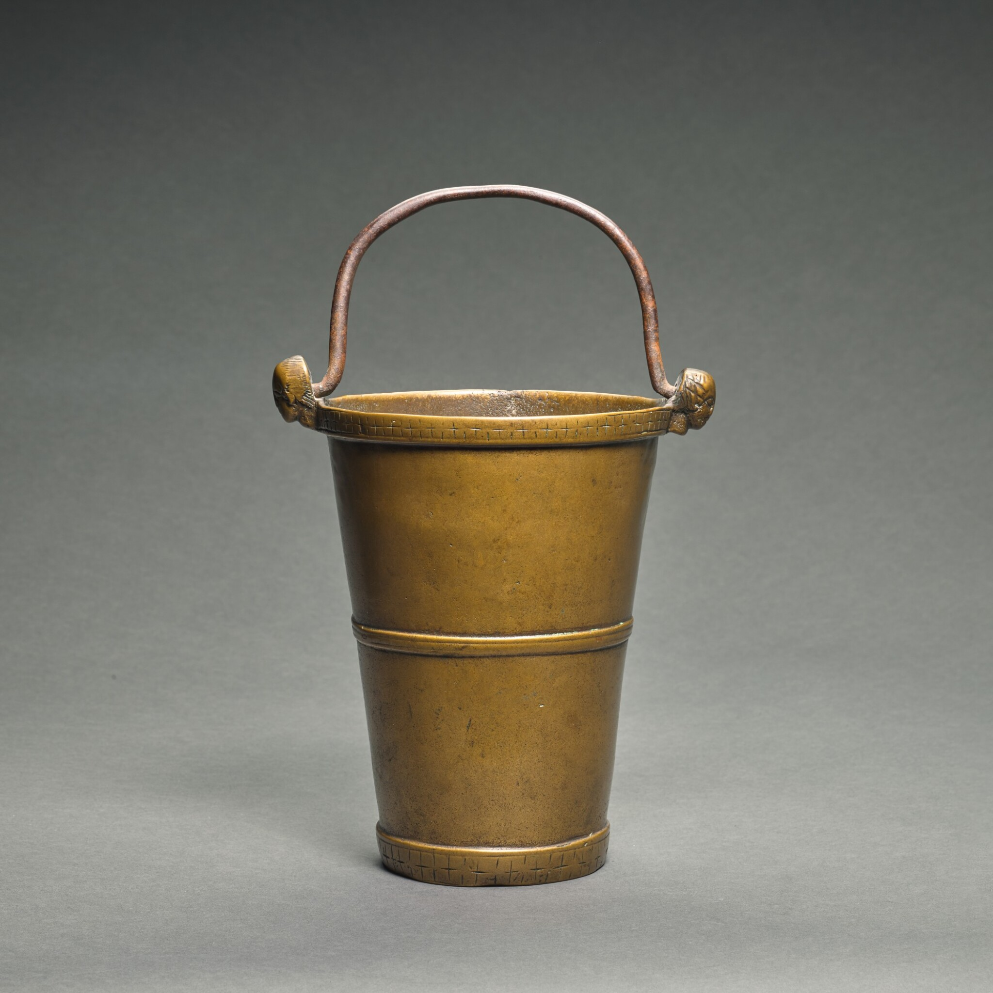 View full screen - View 1 of Lot 1. German, probably Lower Rhine, circa 1100-1150   Conical Situla.