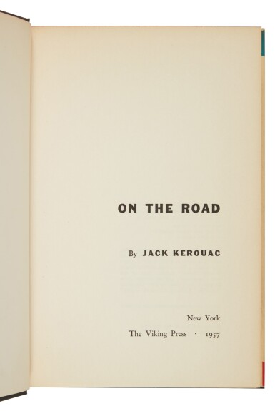 View 3. Thumbnail of Lot 136. Kerouac, Jack | First edition, presentation copy of the classic Beat novel.
