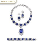 Jahan   Important sapphire and diamond parure   Jahan   藍寶石配鑽石首飾套裝