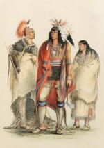 CATLIN. North American Indians portfolio. Londres, 1844. 25 planches coloriées à la main. Premier tirage.
