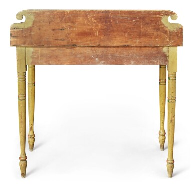 View 7. Thumbnail of Lot 318. Fine Classical Polychrome Paint-Decorated Pine Dressing Table, Maine, circa 1825-1840.