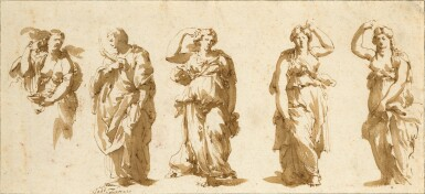 View 1. Thumbnail of Lot 95. Series of Studies After the Antique.