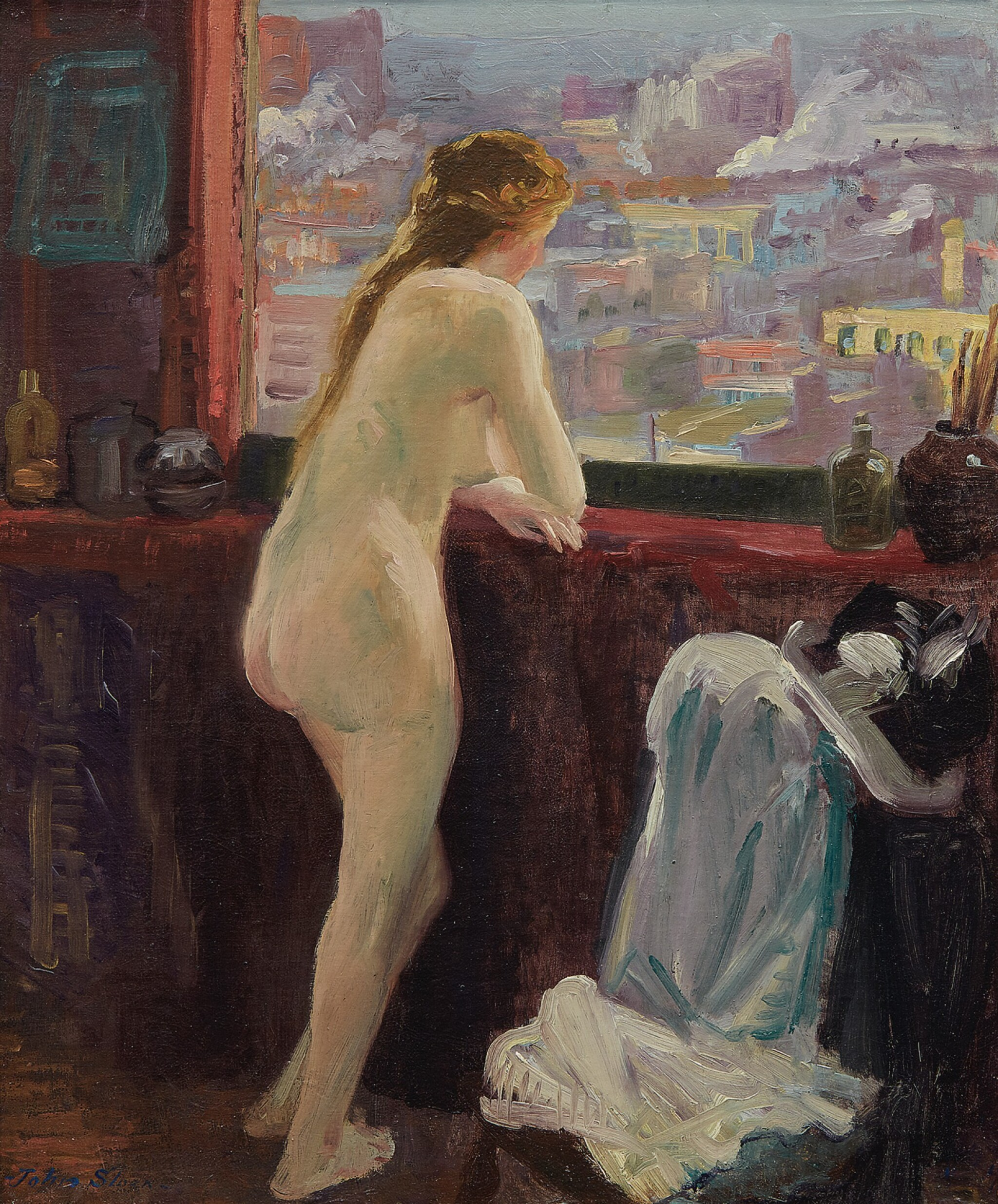 View 1 of Lot 12. Nude at Window over Greenwich Village.