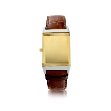 View 4. Thumbnail of Lot 244. REFERENCE 250.5.86 REVERSO CLASSIQUE A YELLOW GOLD AND STAINLESS STEEL REVERSIBLE WRISTWATCH, CIRCA 1995.