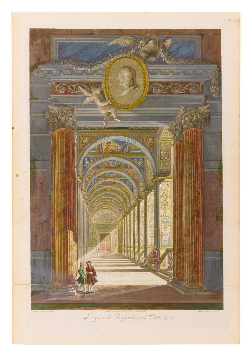 ITALIAN SCHOOL, 18TH CENTURY (AFTER SAVLORELLI & CAMPORESI, ETCHED BY OTTAVIANI)   RAPHAEL SANZIO D'URBINO, LOGGIE DE RAFAELE NEL VATICANO: A GROUP OF TEN
