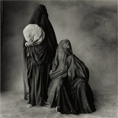 View 1. Thumbnail of Lot 130. 'Two Rissani Women, One with Bread, One with Child (Morocco, 1971)'.