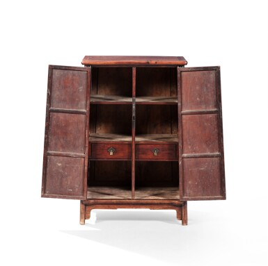 View 5. Thumbnail of Lot 24. A huanghuali rounded-corners cabinet, yuanjiao gui Ming dynasty, 17th century   明 十七世紀 黃花梨圓角櫃.