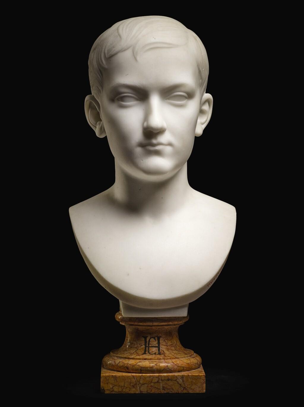 ROLAND MATHIEU-MEUSNIER | PORTRAIT BUST OF A YOUNG MAN