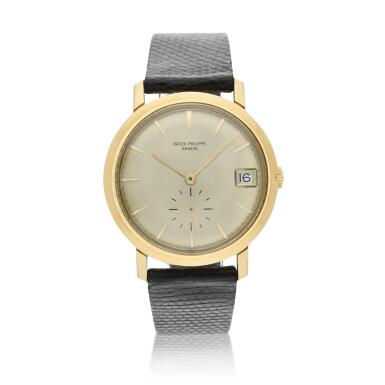 View 1. Thumbnail of Lot 246. Reference 3445  A yellow gold automatic wristwatch with date, Made in 1972.
